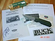 Paul Bos Collection Buck Knife 881 T Strider Bos Bg-42 Blade 1st Production Run
