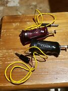 2 Vintage Cox Controlers 1 Red 15 And 1 Black 25 Ohm Slot Car 124 Scale Racing.