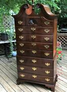 Statton Private Collection Appalachian Cherrywood Chippendale Highboy