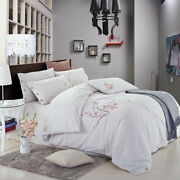 4-piece Bedding Set Large King Size 100 Washed Cotton 2020 Home