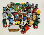 Large Lot Of 46 Pieces Thomas Diecast Engines - Cabooses - Vehicles
