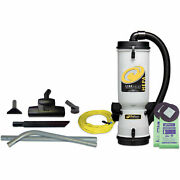 Proteamand174 10 Qt. Linevacer Hepa Backpack Vacuum W/friction Fit Wand 1-1/2,