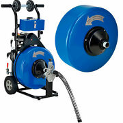 Drain Cleaner For 4-9 Pipe W/5/8 And 3/4 X 100and039 Cables And Drums