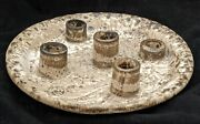 Vintage Mccarty Pottery 5 Pipe Candle Plate Purchased From Martin Miazza
