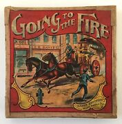 Antique Parker Brothers Board Game Going To The Fire
