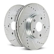 Power Stop For 12-19 Nissan Gt-r Front Evolution Drilled And Slotted Rotors - Pair