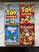 Disney Pixar Dvd Lot W/ Slipcovers Toy Story 1 And 2 Finding Nemo And Incredibles