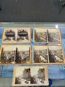 5 Antique Vtg Stereoscope Viewing Cards Stereo View Millard Fillmore Buffalo