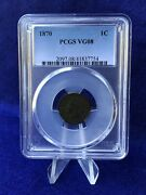 1870 Indian Head Cent 1c Penny Tougher Date Pcgs Vg8 Very Good