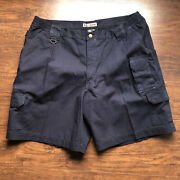 5.11 Tactical Series Cargo Shorts Mens Size 42 Cotton Canvas Blue Style 73285