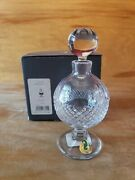 Waterford Crystal Footed Perfume Bottle Colleen Vintage Mint In Box