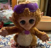 Fur Real Friends Baby Cuddles My Giggly Monkey Pet Plush Interactive Toy Works