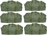 Lot Of 6 Improved Real Military Duffel Bag Tactical Deployment Flight And Sea Bag