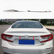 2pc Steel Rear Trunk Lid Cover Tailgate Trim Molding Fit For Honda Accord 2018
