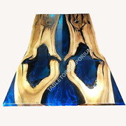 Olive Wood Epoxy Table /acacia Epoxy Dining Table/end Table Custom Made Interior