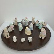 Dreamsicles Christmas Nativity Collection 15 Piece Ceramic Vintage 1995 Signed