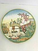 Easter Plate By V Tiziano 1975 Decor Hand Etched Painted Limited 1549/2000 Italy