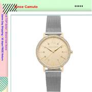 Vince Camuto Vc/5351chtt Ladies Crystal Accented Gold Tone And Silver Watch