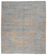 Jaipur Living Ferelith Handmade Abstract Blue/ Light Tan Area Rug 8and039x11and039