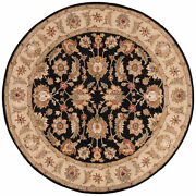 Jaipur Living Selene Handmade Floral Black/ Beige Round Area Rug 10and039x10and039