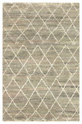 Jaipur Living Batten Hand-knotted Trellis Green/ Ivory Area Rug 9and039x12and039