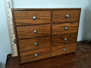 Antiques, Cabinets, Collector Cabinet, Oak Veneer, 8 Drawers, Post 1950