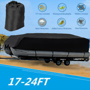 17-24ft Waterproof Trailerable Pontoon Boat Cover All Weather Heavy Duty Protect