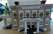 Department 56 Snowy Hills Hospital Retired Snow Village Lights Up Christmas
