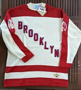 Brooklyn Americans Stall And Dean Sweater Jersey Nwt Nhl Heritage Size 2xl