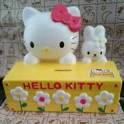 Hello Kitty Pottery Piggy Bank Sanrio 1999 From Japan