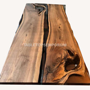 Wooden Acacia Epoxy Resin River Dining Conference Tops Table Handmade Interior