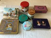 Lot Of Old Vintage Collectable Candy Tins