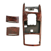 +peach Wood Grain Gear Shift Panel Inner Decoration Cover For Audi 2005-11 A6 C6