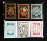 Odissea Playing Cards 6 Deck Set + Carat Case By Thirdway Industries Rare