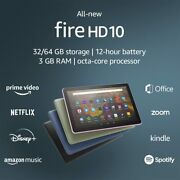 🔥2021 Latest 11th Gen Kindle Fire Full Hd 10 64gb Tablet Multiple Color