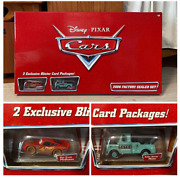 Disney Cars Exclusive Blister Card 1 Of Up 500 2006 Factory Sealed Lot Of 2 Toys