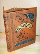 1880and039s Antique Victorian Trade Card Scrapbook Album Die Cuts Litho 70+pages
