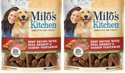 2 Milo's Kitchen Beef Recipe With Real Brisket And Garden Vegetables Dog Treat