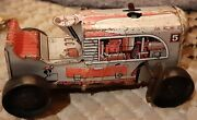 Vintage Marx Tin Wind-up Toy Tractor 5, Parts Or Repair Purposes Only