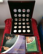 2003 Lord Of The Rings Silver Proof Coins Scenes In Silver - Complete Set Of 24