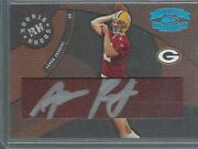 Aaron Rodgers 2005 Throwback Threads Rookie Hoggs On Card Auto Rc D 114/150