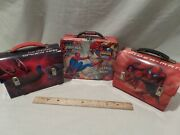 Spider Man Bundle Of 3 Mini Metal Lunchboxes By Marvel