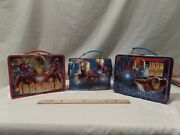 Iron Man Bundle Of 3 Mini Metal Lunchboxes By Marvel --tin Box Co.
