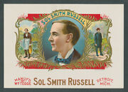Vaudeville Stage Actor Sol Smith Russell On Original Antique Cigar Box Label Art