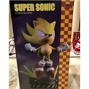 First 4 Figures Super Sonic The Hedgehog 15 Collectible Statue Figure