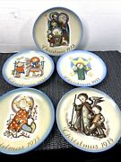 5-schmid Christmas Plates 1973-1977 By Sister Berta Hummel-set Of 5 New In Box-w