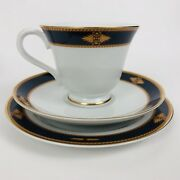 Wedgewood Embassy Collection Foxworth Japan 1995 Cups Saucers Salad Plates 8 Ea