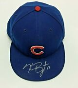 Kris Bryant 2015 Signed Team Issued Used Hat Cap Chicago Cubs Rookie Auto