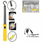 Professional 34 Led Dual Function Rechargeable Work Light, Yellow, Lot Of 4