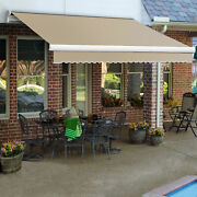 Awntech Retractable Awning Right Motor 12and039w X 10and039d X 10h Linen